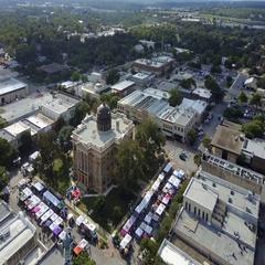Downtown Georgetown, Texas Orbit Arkistovideo