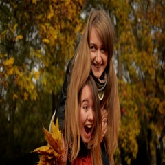 Cheerful Happy Woman Piggybacking her Pretty Girlfriend, Two Beautiful Young Gir Stock Footage
