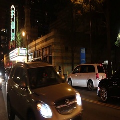 Fox Theater in Atlanta, Georgia at night. Stock Footage
