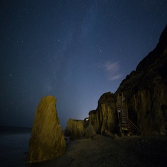 The Milky Way as seen from Malibu, California Night Timelapse Stock Footage