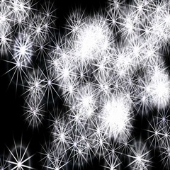 Stars and fireworks Stock Footage