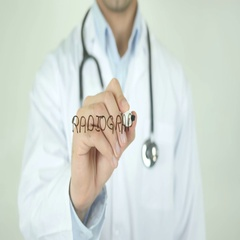 Radiography, Doctor Writing on Transparent Screen Stock Footage