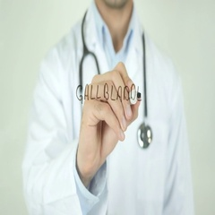 Gallbladder, Doctor Writing on Transparent Screen Stock Footage