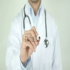 Insulin, Doctor Writing on Transparent Screen Stock Footage