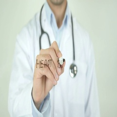 Heart burn, Doctor Writing on Transparent Screen Stock Footage