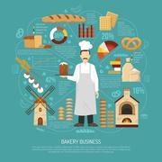 Bakery Business Illustration Stock Illustration