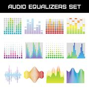 Audio Equalizer Set Stock Illustration