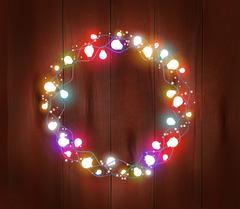 Christmas Light Garland Poster Stock Illustration