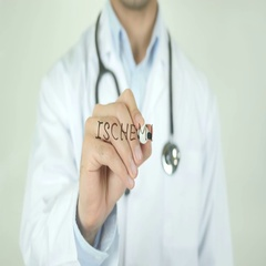 Ischemia, Doctor Writing on Transparent Screen Stock Footage