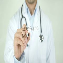 Irregular Heartbeat, Doctor Writing on Transparent Screen Stock Footage