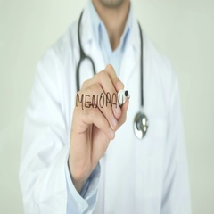 Menopause, Doctor Writing on Transparent Screen Stock Footage