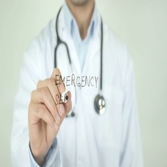 Emergency Services, Doctor Writing on Transparent Screen Stock Footage