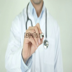 Dermatologist, Doctor Writing on Transparent Screen Stock Footage