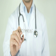 Autoimmune disease, Doctor Writing on Transparent Screen Stock Footage