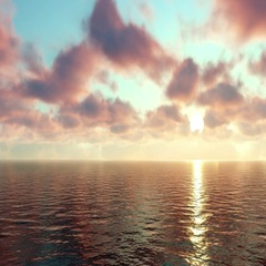 Sunset Over the Boundless Ocean Stock Footage