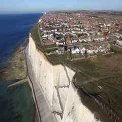 Peacehaven, East Sussex, from the air Stock Footage