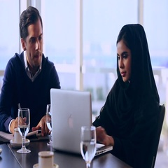 Business people using laptop at the office Stock Footage