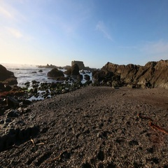 Fort Bragg Glass Beach Stock Footage