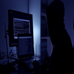 Lonely  Hackers working intensively to its strategy in the dark Stock Footage