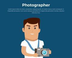 Photographer Concept Banner Vector Illustration Piirros