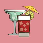 Coktail bar drink Stock Illustration
