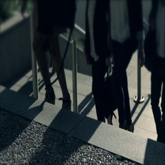 Businessmen crowd on the way to work in the morning. Concept for finance, busine Stock Footage