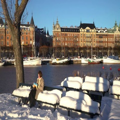 A wintry Stockholm, Sweden Stock Footage