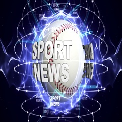 SPORT NEWS, and Sports Balls, Green Screen, Loop, 4k Stock Footage