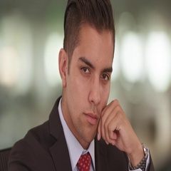 Close up portrait of Hispanic businessman looking at camera wearing suit and tie Stock Footage
