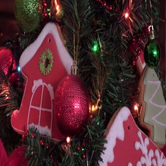 Christmas homemade gingerbread cookies, new year, xmas Stock Footage