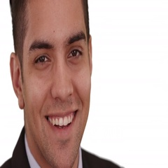 Happy smiling Hispanic business man on white background looking at camera Stock Footage