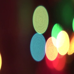 Ligh bokeh, colors, cam moves to the right Stock Footage