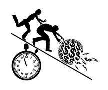 Rat Race for Money Stock Illustration