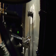 Single paradiddle (drum rudiment) on bass drum looped Stock Footage