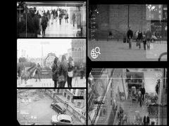 Close Up - Security Camera - Surveillance - Time lapse - SD Stock Footage