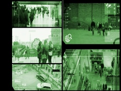 Close Up - Security Camera - Surveillance - Time lapse - green - SD Stock Footage