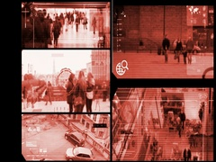 Close Up - Security Camera - Surveillance - Time lapse - red -SD Stock Footage