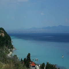 Aegean sea view Stock Footage