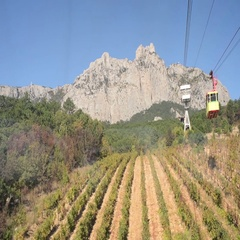 View from Cableway Stock Footage