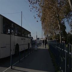 Bus station in Belgrade,Serbia Stock Footage