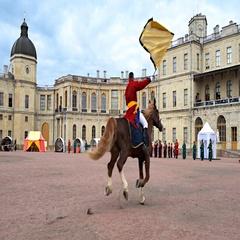 Military historical festival Gatchinskaya Byl Stock Footage
