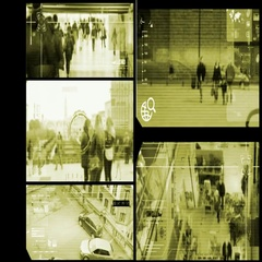 Close Up - Security Camera - Surveillance - Time lapse - yellow Stock Footage
