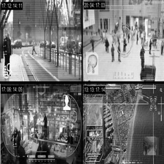 CCTV - Security Camera - Surveillance - Time lapse - grey Stock Footage
