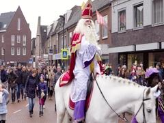Saint Nicholas arriving Netherlands 4K Stock Footage