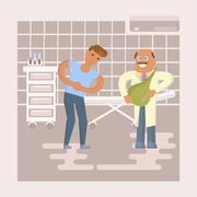 Doctor and patient Stock Illustration