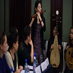 Playing Chinese music Stock Footage