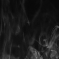 White smoke on black background flows seamless loop Stock Footage