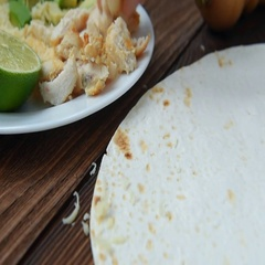 Chicken avocado burritos and corn tortillas Stock Footage