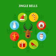 Jingle Bells Infographic Concept Stock Illustration