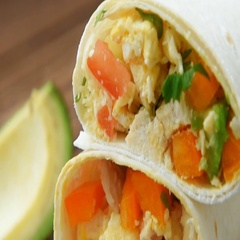 Ready burritos with chicken, cheese and vegetables Stock Footage